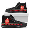 Africa Zone Shoes - I Am Black History Delta Sigma Theta Canvas High Top J0