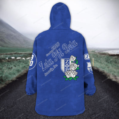 ZETA PHI BETA FLEECE LAZY PAJAMAS HOODIE