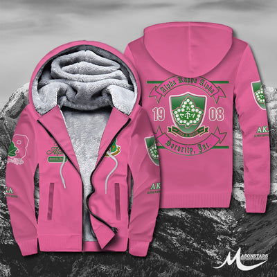 Alpha Kappa Alpha Fleece Zip Hoodies 281020195