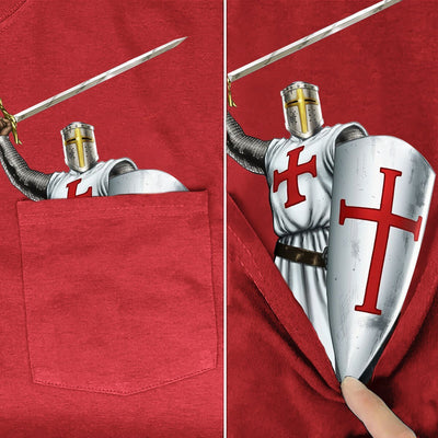 Knights Templar Pocket T-Shirt