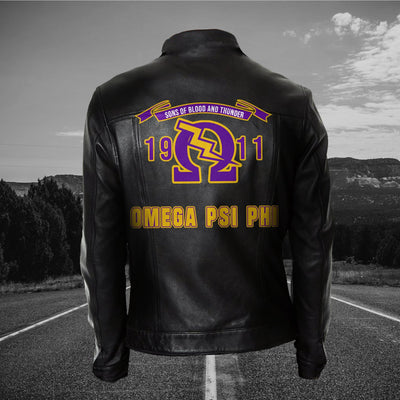 Omega Psi Phi Leather Jacket 21020191
