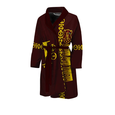 Africa Zone Bath Robe - Iota Phi Theta Style Men's Bath Robe J09
