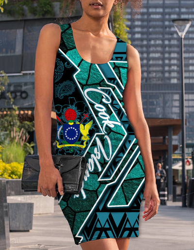 COOK ISLANDS WOMEN'S RACERBACK DRESS 2