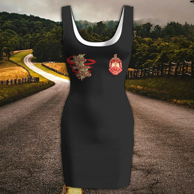 DELTA SIGMA THETA WOMEN'S RACERBACK DRESS