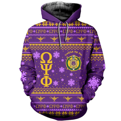 3D ALL OVER OMEGA PSI PHI UGLY SWEATER 30920192