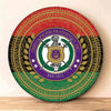Africa Zone - Pan Africa Omega Psi Phi Round Wooden Sign J5