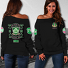 Gamma Theta - AKA WOMEN'S OFF SHOULDER SWEATER