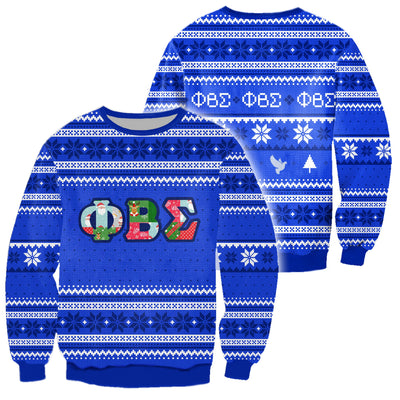 3D ALL OVER PHI BETA SIGMA UGLY SWEATER 16102019