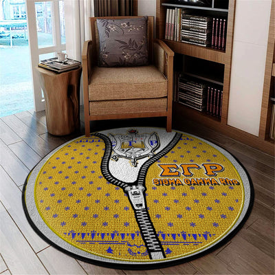 Sigma Gamma Rho Christmas Round Carpet 31102019
