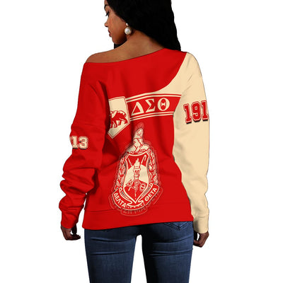 Africa Zone Sweater - Personalised Delta Sigma Theta Women Off Shoulder - Simple Style J8
