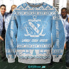3D ALL OVER PRINT KNITTING PATTERN LAMBDA SIGMA UPSILON UGLY SWEATER