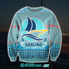 Sailing 3D Print Knitting Pattern Ugly Christmas Sweater