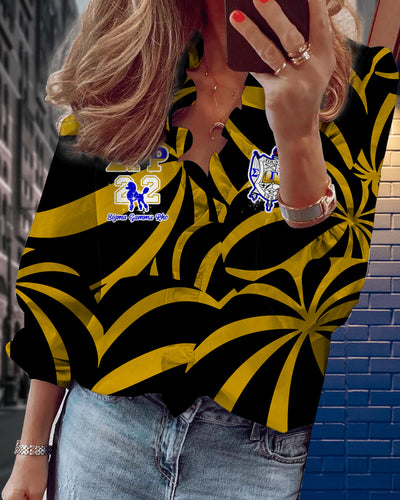 Sigma Gamma Rho V-neck long sleeve lace shirt 19
