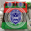 Africa Zone Bedding Set - Pan Africa Zeta Phi Beta Sorority Duvet Cover & Pillow Cases J5