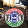 Africa Zone Carpet - Pan Africa Zeta Phi Beta Sorority Round Carpet J5
