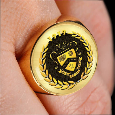 Kappa Kappa Psi 18K Gold Finish Signet Ring
