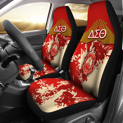 Africa Zone Car Seat Covers - Delta Sigma Theta - Spaint Style (Set of 2) J89