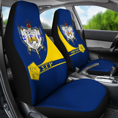 Africa Zone \bCar Seat Covers - Personalised Sigma Gamma Rho - Simple Style J8