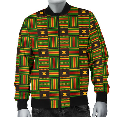 Africa Zone Jacket - Kente Cloth - Ghanaian Pattern Bomber Jacket JR