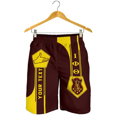 Africa Zone Shorts - Personalised Iota Phi Theta Shorts - Simple Style J8