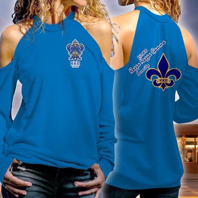 Kappa Kappa Gamma Strapless Off Shoulder Sweatshirt 1