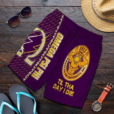 Africa Zone Shorts - Omega Psi Phi Til The Day I Die Men's Short J5