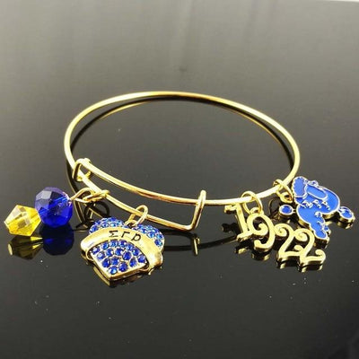 SGR Love charm bangle Rho Sorority Sigma Gamma Rho Sorority Adjustable Charm Bangle