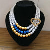 Sigma Gamma Rho Sorority SGR 1922 heart Multilayer Statement Pearl strand necklace Jewelry