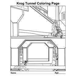 Krog Tunnel Coloring Page