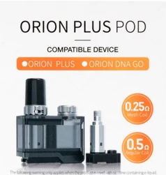 Lost Vape Orion Plus Pod w / 2 Coils