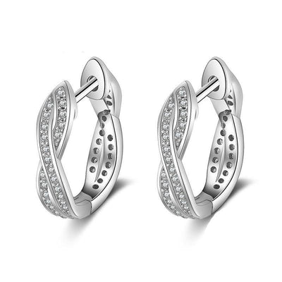 Hoop Cubic Zirconia Earrings
