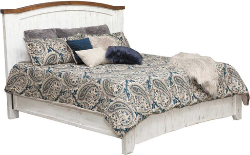 IFD Pueblo Queen Panel Bed in White image