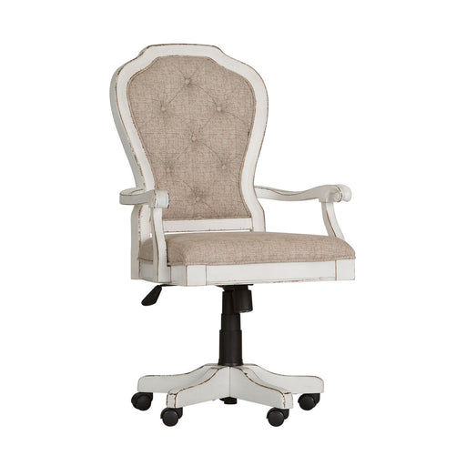 Liberty Magnolia Manor Jr Executive Desk Chair in Antique White 244-HO197 image