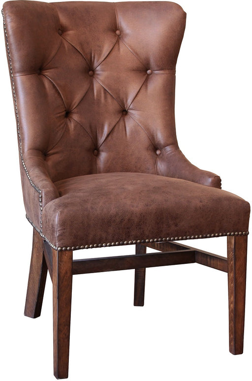 IFD Terra Upholstered Chair with Tufted Back in Chocolate (Set of 2) IFD1020CHAIR-T image