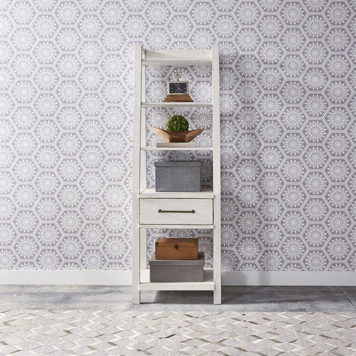 Liberty Modern Farmhouse Leaning Bookcase in White 406W-HO201 image