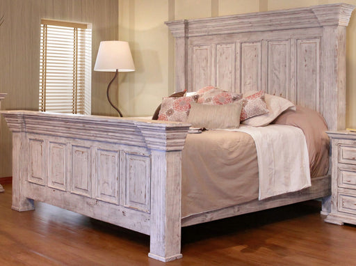 IFD Terra King Panel Bed in Distressed Vintage White image