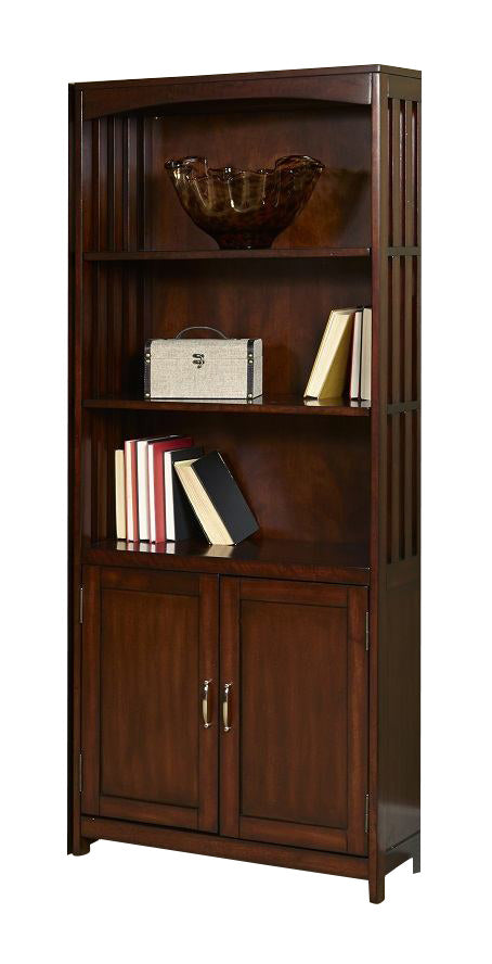 Liberty Hampton Bay Door Bookcase in Cherry 718-HO202 image