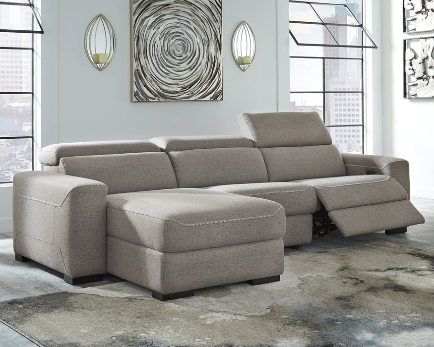 Mabton Signature Design by Ashley 3-Piece Power Reclining Sectional image