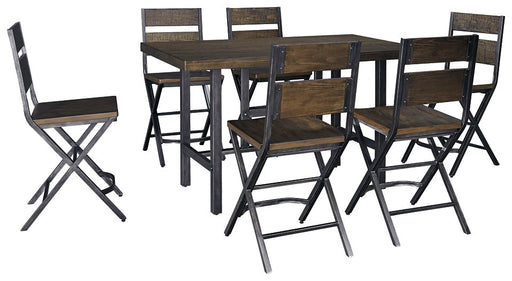 Kavara Signature Design 7-Piece Counter Height Dining Room Package image