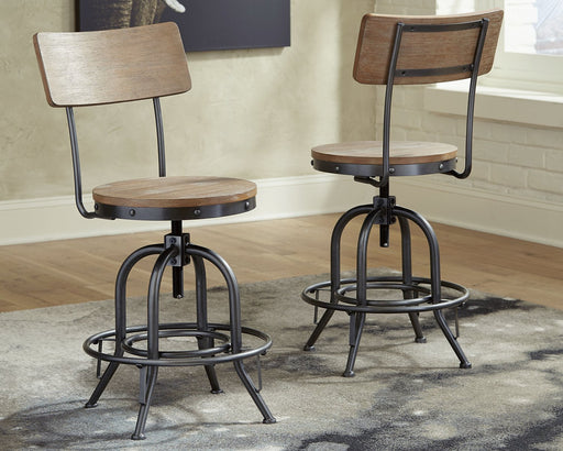 Pinnadel Signature Design by Ashley Swivel Stool 2CN image