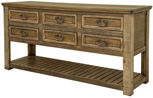 IFD Montana 6 Drawer Sofa Table in Brown IFD1141SOF image