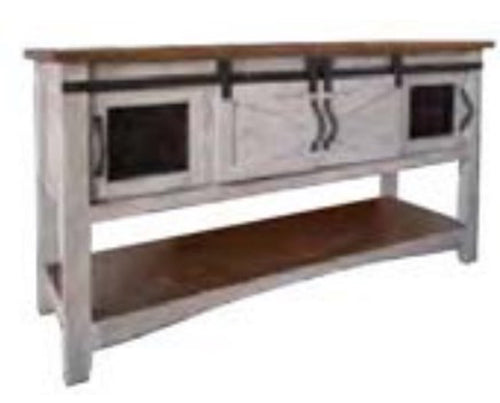 IFD Pueblo Gray 4 Doors Sofa Table in Light Gray IFD3401SOF image