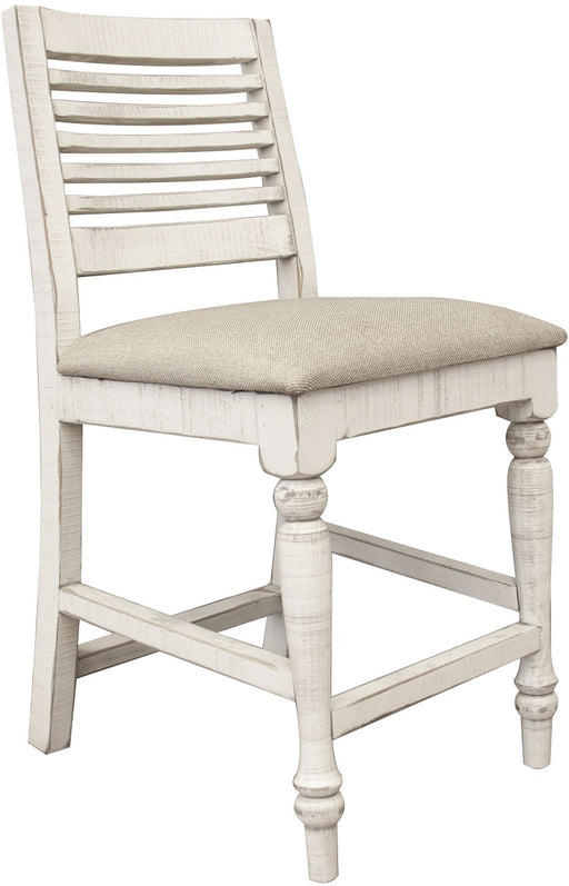 "IFD Stone 24"" Counter Height Chair in Off White (Set of 2) IFD4680BST24 image"