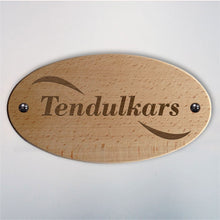 Load image into Gallery viewer, Oval Wooden Nameplate