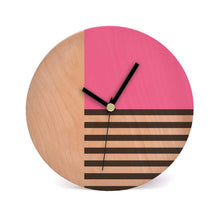Load image into Gallery viewer, Circular Wooden Clock Panel