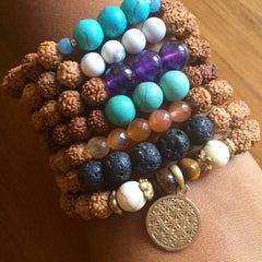 Karma Collective Flower of Life gold plated charm bracelet