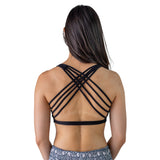 Dressy Sports Bra - Black - Pi Yoga Pants