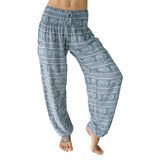 PI  -  Confidence of the Elephants - Gray (Gray/White) - Scrunched Bottom  -   -  Women's Scrunched Bottom Pants size 0-12  -  pi-yoga-pants