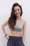 Dressy Sports Bra - Heather Gray - Pi Yoga Pants