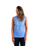 Love is All you Need Muscle Tank Blue